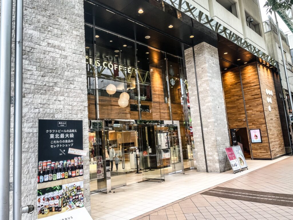 仙台のファッションビルであるフォーラス